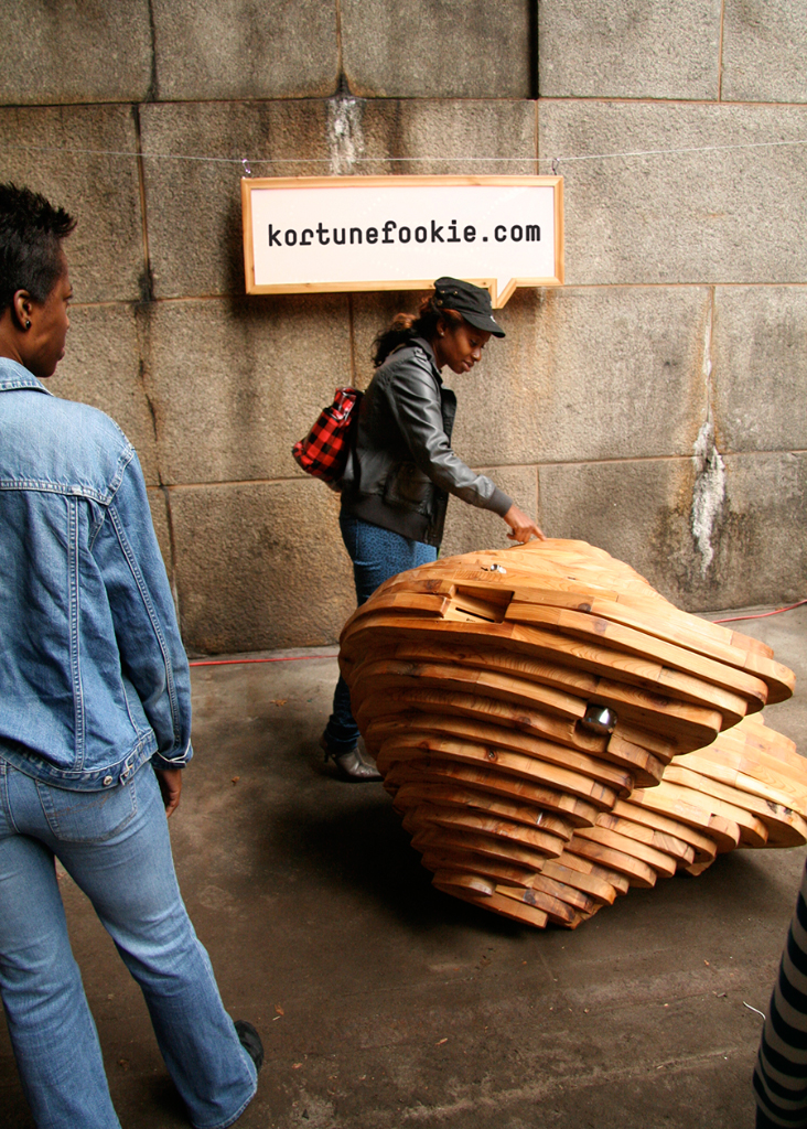 Kortunefookie, art public interactif