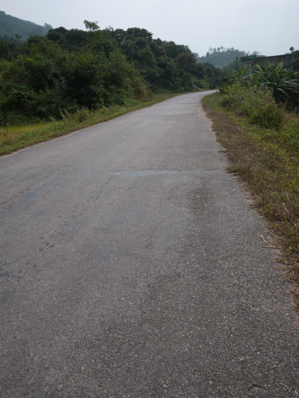 Route vers la frontière chinoise