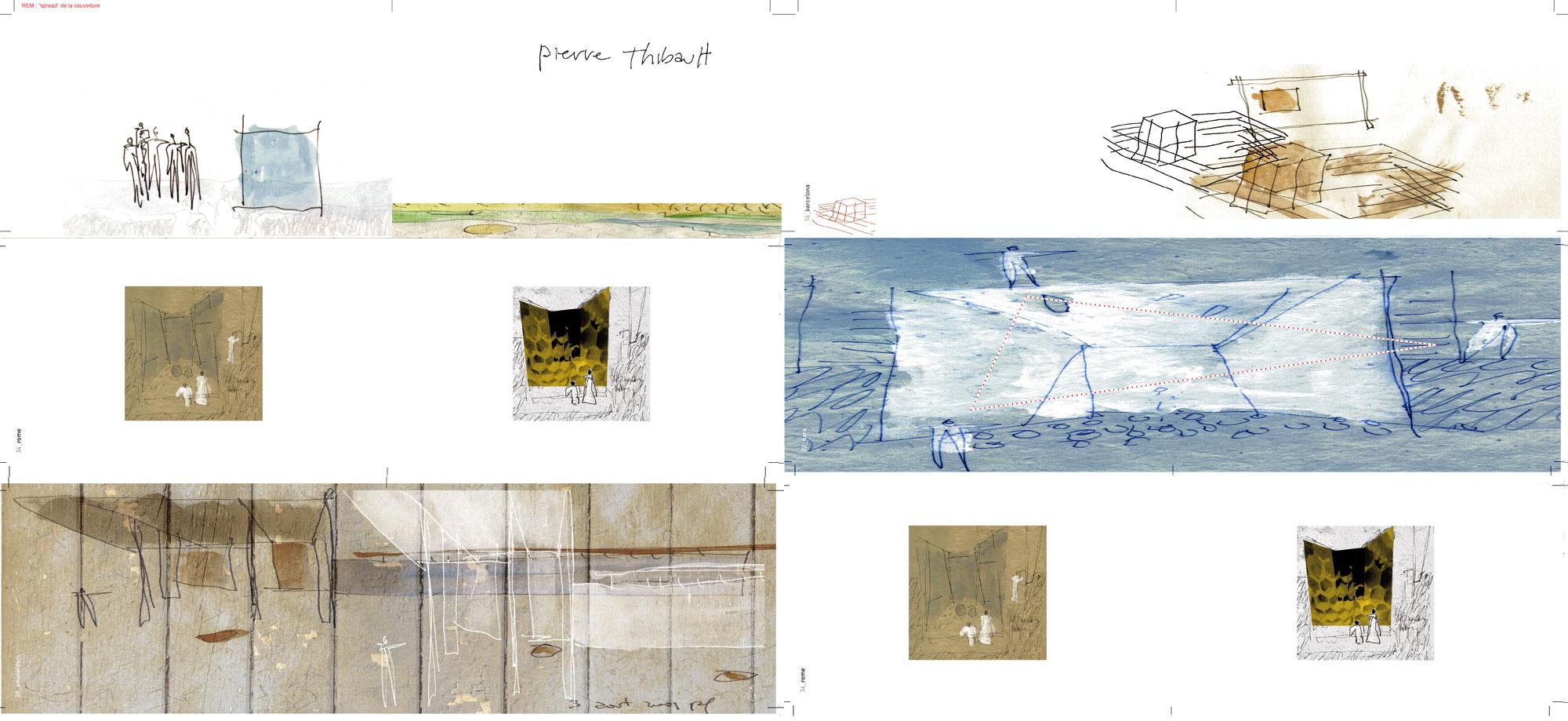 Recueil des croquis d'inspiration de Pierre Thibault